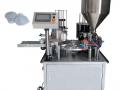 Машина за пълнене и запечатване на течности в чаши