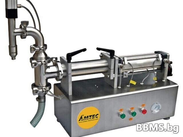 Самостоятелна машина за пълнене на течности 100 - 500 мл
