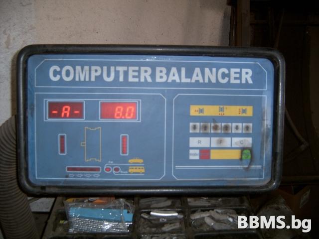"""Mашина за компютърен баланс гуми до 28"""""""