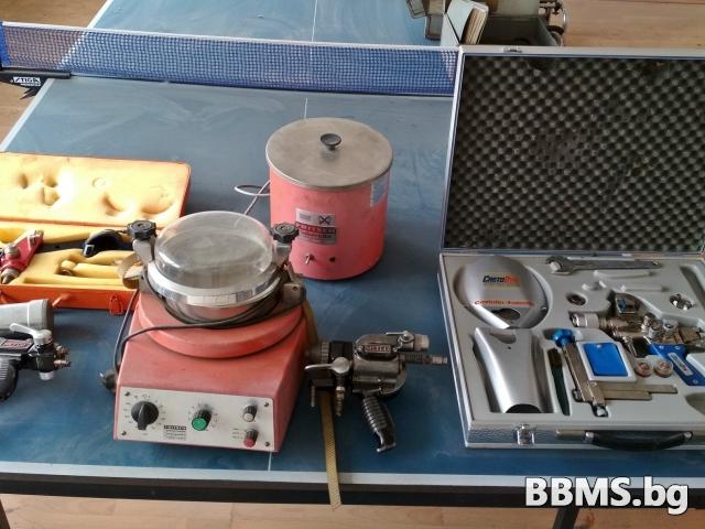Горелки Metco и Castolin за прахово газопламъчно напластяване