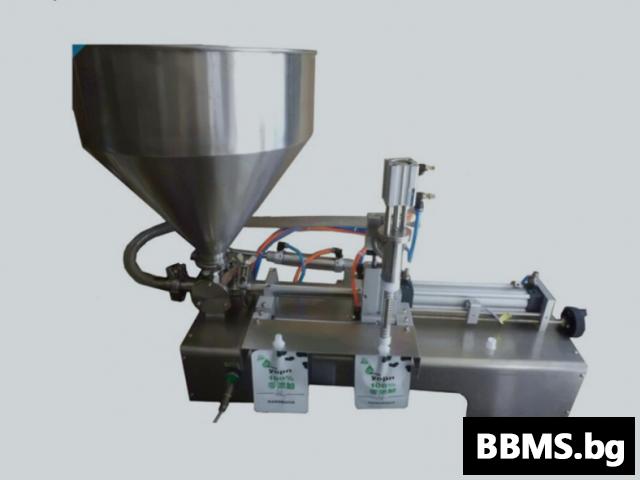 Полуавтоматична дойпак пакетираща машина за пастообразни продукти