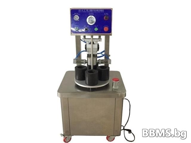 Полуавтоматична вакум затваряща машина за стъклени буркани