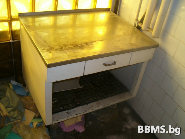 кухненски работен плот 100х70х90 от неръждавейка