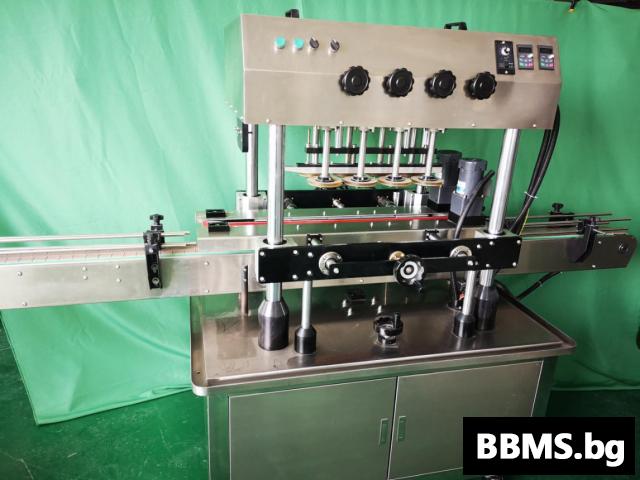 Автоматична затваряща машина за пластмасови капачки(с елеватор )