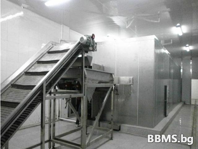 Aвтоматичен тунел за шоково соло замразяване на зеленчуци и плодове